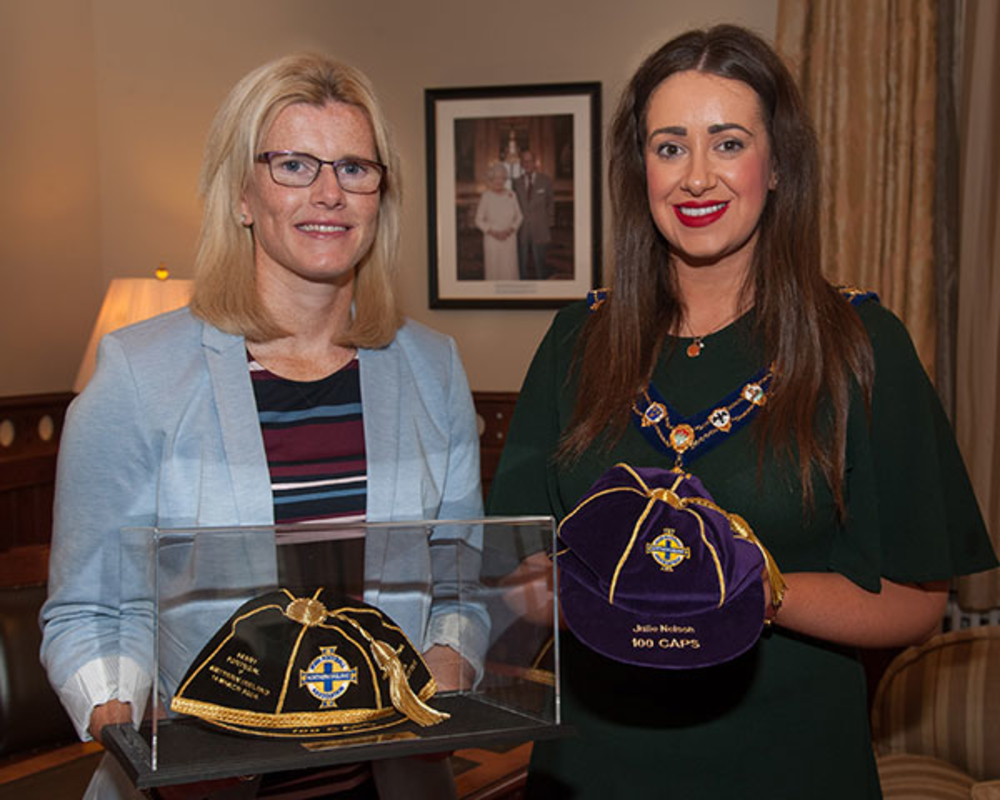 Mayor's Reception in honour of Northern Ireland legend Julie Nelson