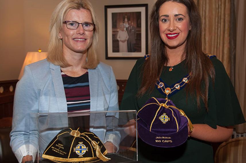 Mayor's Reception in honour of Northern Ireland legend Julie Nelson image