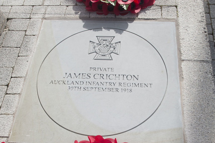 Permanent memorial unveiled for VC hero James Crichton in hometown image