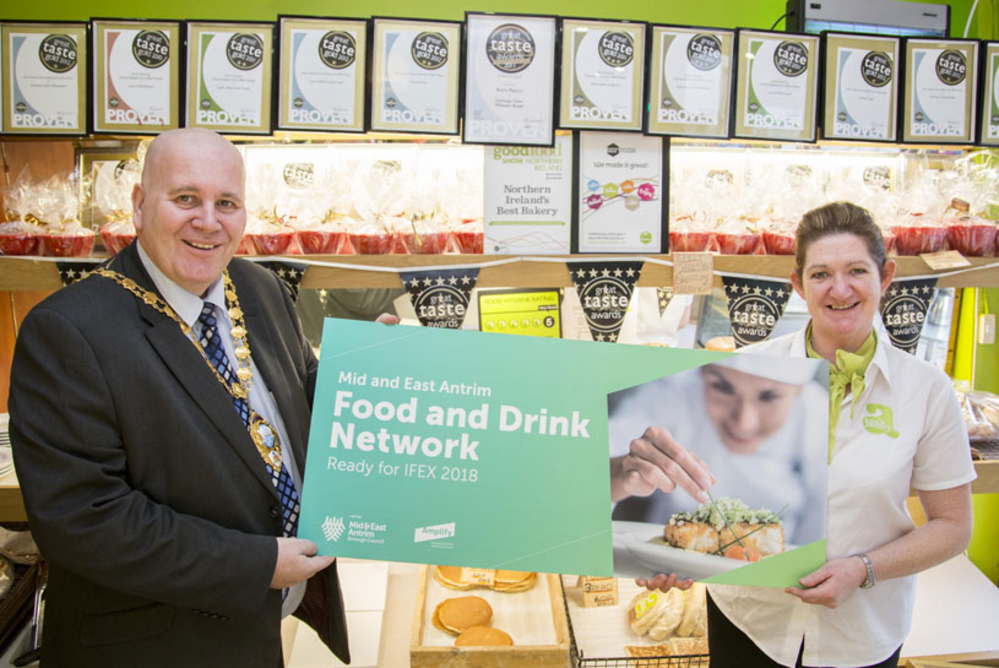 Mid and East Antrim food and drink producers attend largest retail and hospitality event in Northern