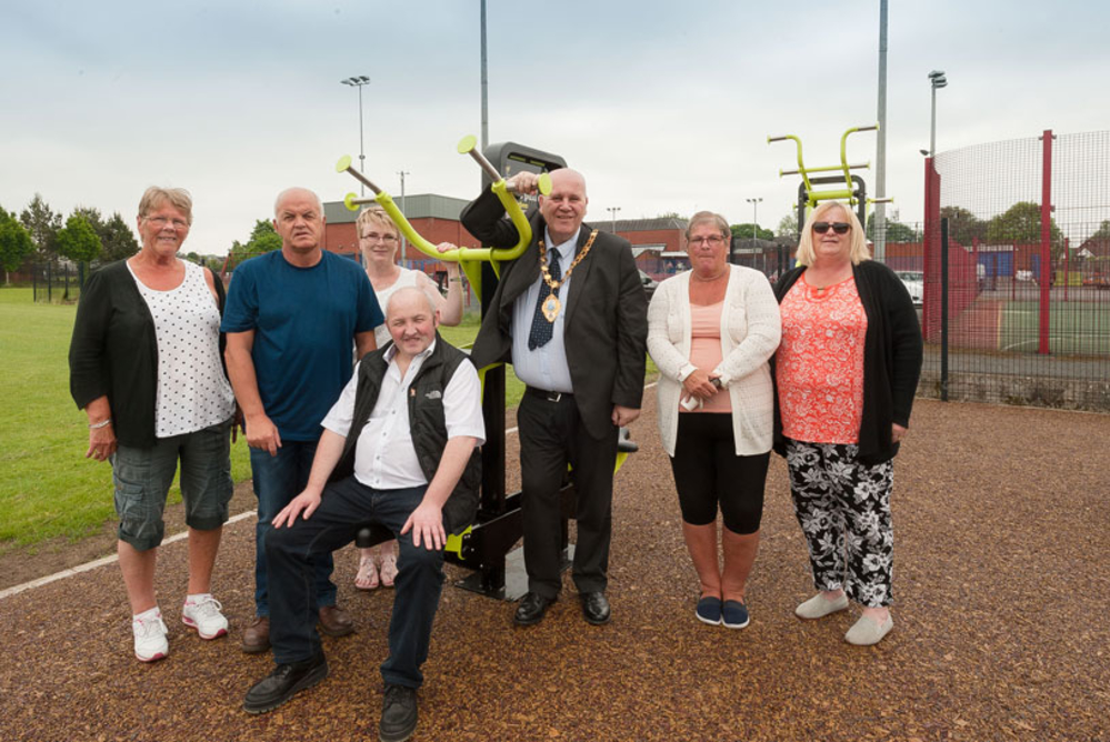 Residents flex their muscles as new outdoor gym opens in Ballykeel