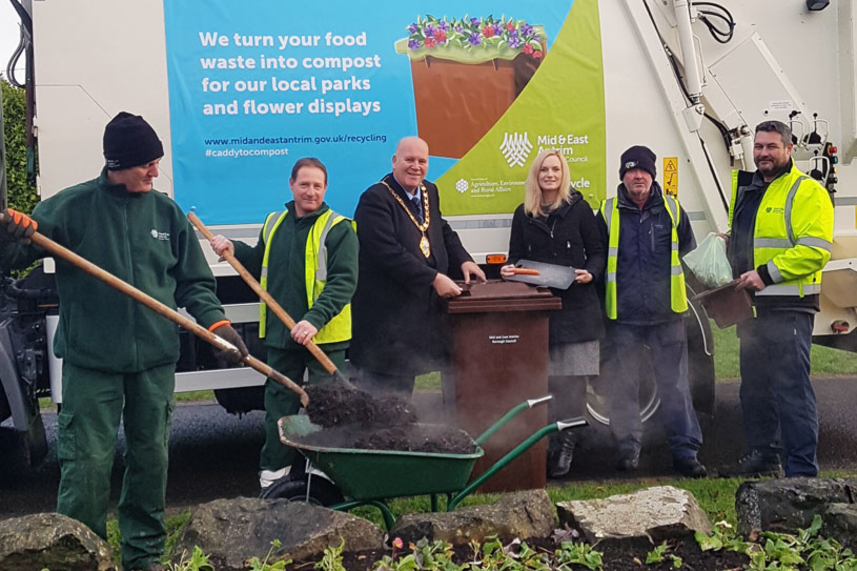 Residents' food waste used to help generate more than 9,000 tonnes of compost image