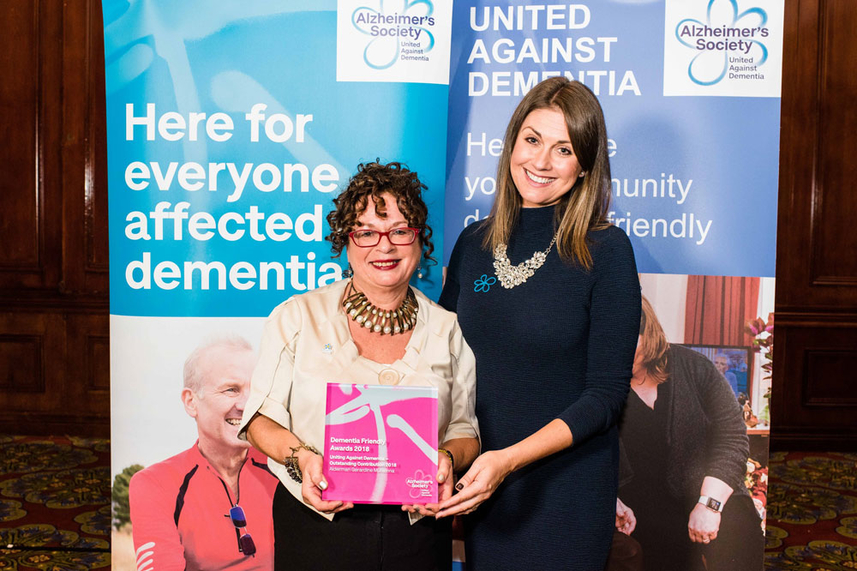 'This one's for you mum!' Councillor dedicates prestigious Dementia award to mother image