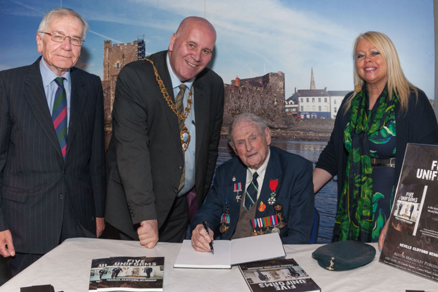 WWII Memoirs launched at Carrickfergus Museum image